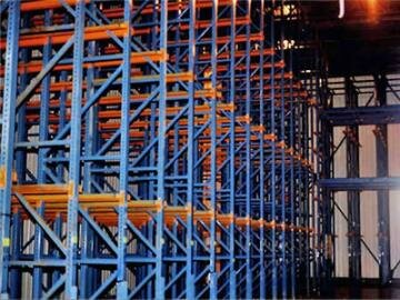 Drive thru racks implemeted for drive in racking system